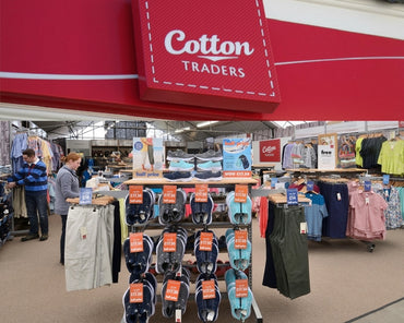 Cotton Traders clothing, pick up summer clothing on your family day out
