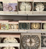 Outdoor clocks, Carr Farm Garden Centre