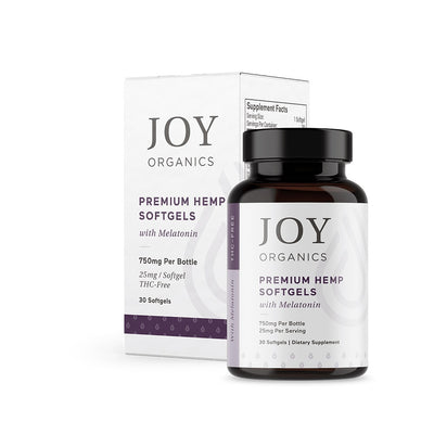 Joy Organics - CBD Softgels - 750mg (25mg/Serving) Melatonin Sleep Formula (Qty 30)