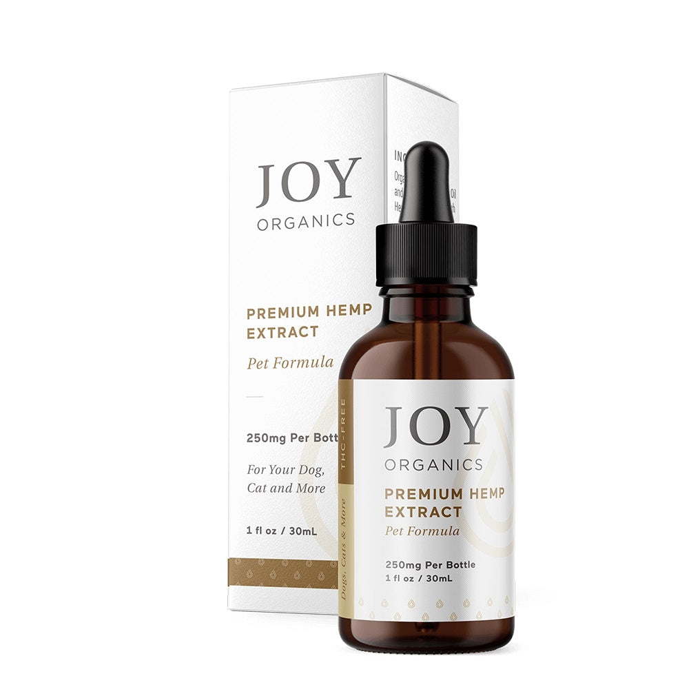 Joy Organics - THC-Free CBD Oil Tinctures for Pets - Dog and Cat - 250mg, 500mg (1 oz.)