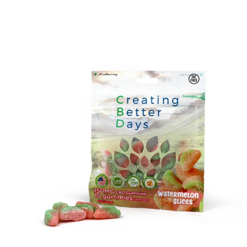 Creating Better Days - CBD Edible - Watermelon Slices Gummies - 10pc-15mg