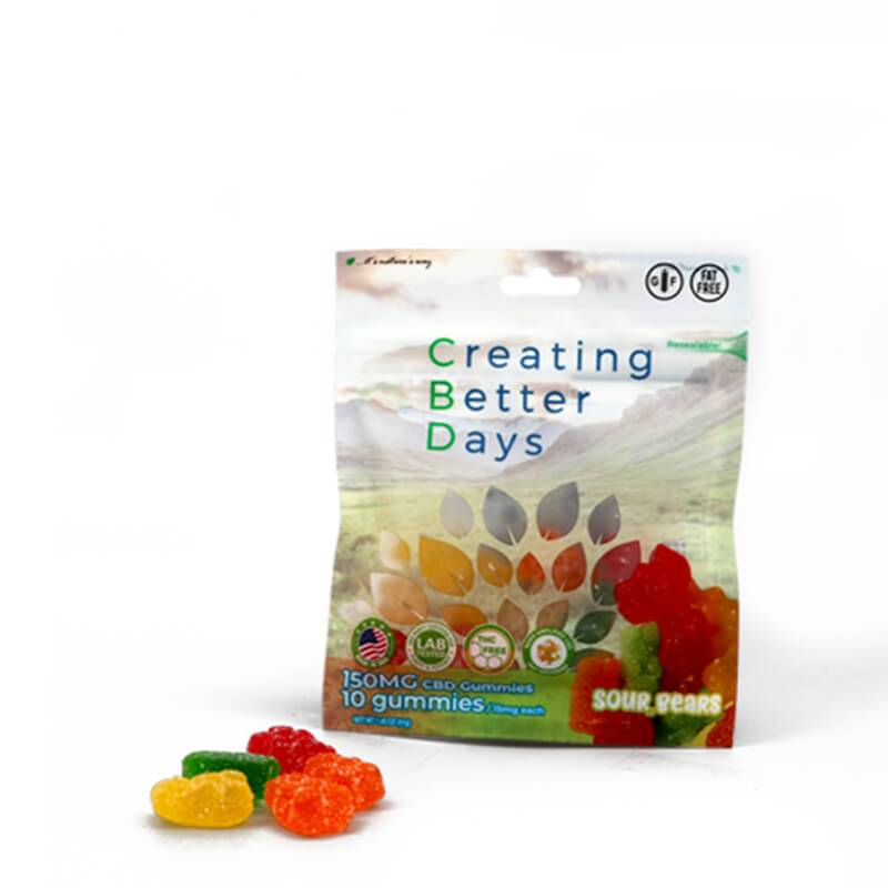Creating Better Days - CBD Edible - Sour Bears Gummies - 10pc-15mg