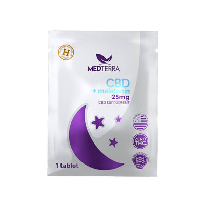 Medterra - CBD Tablets - Melatonin Sleep On The Go Packs - 25mg