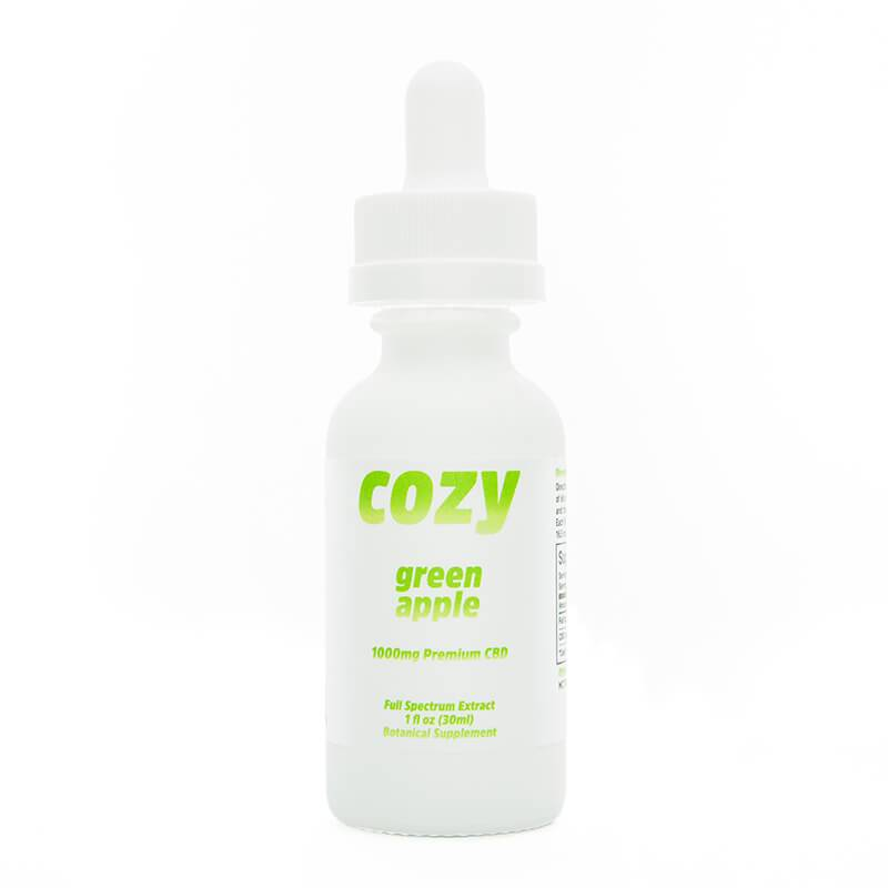 Cozy - CBD Tincture - Green Apple - 1000mg