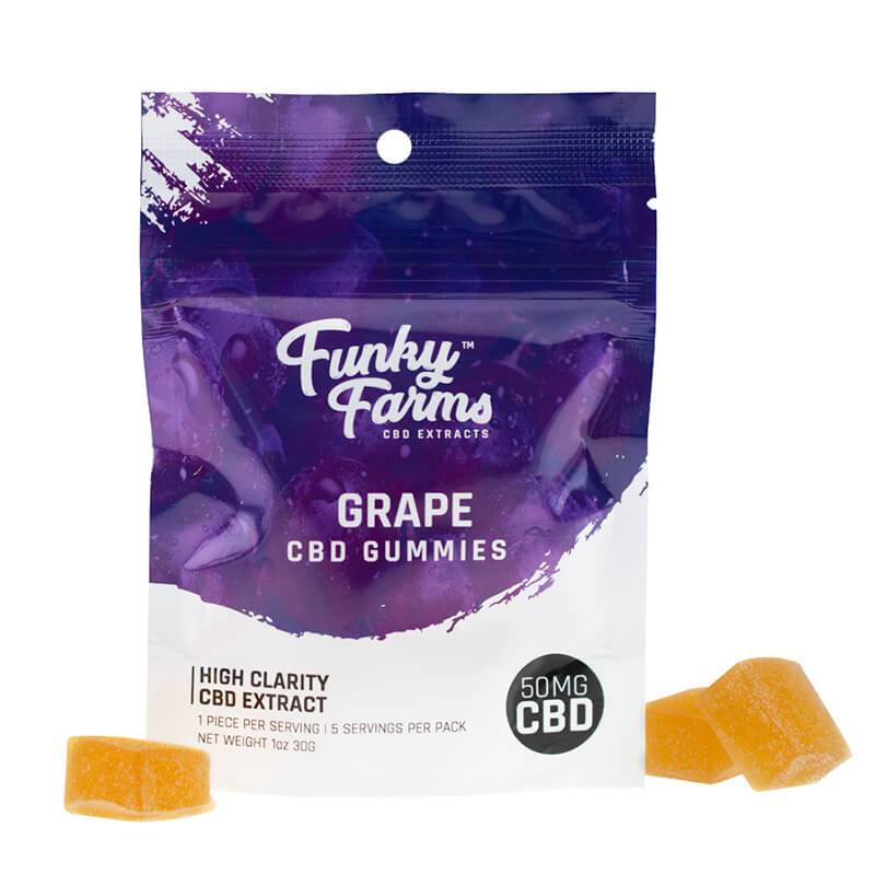 Funky Farms - CBD Gummies - Grape - 50mg