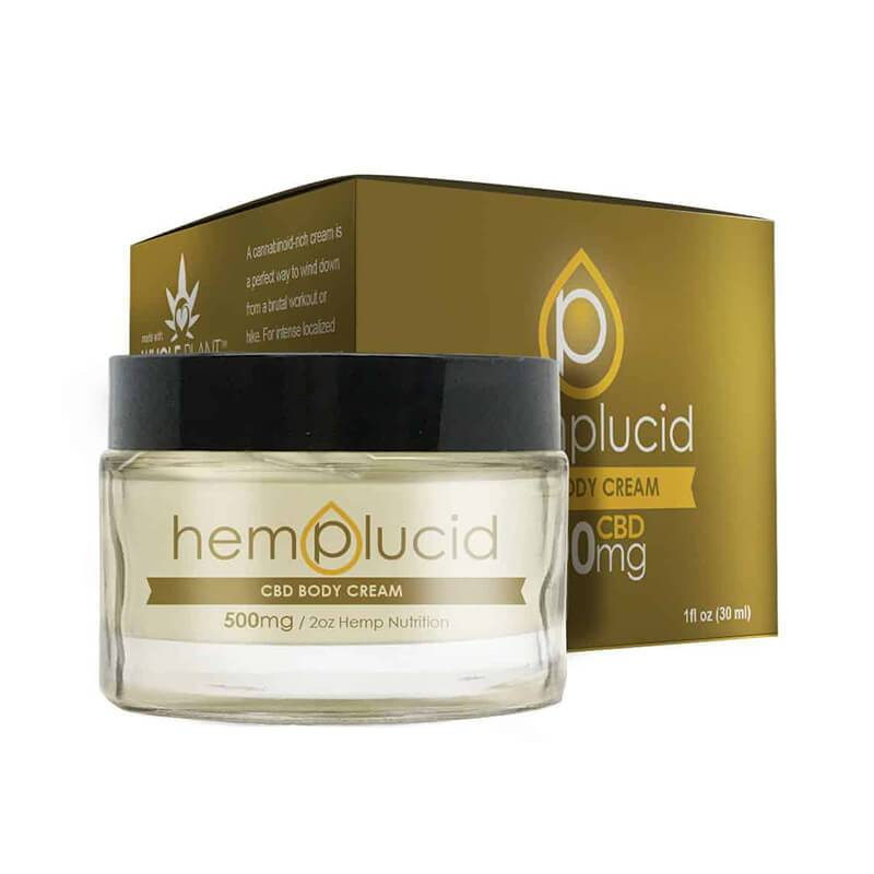 Hemplucid - CBD Topical - CBD Body Cream - 500mg-1000mg