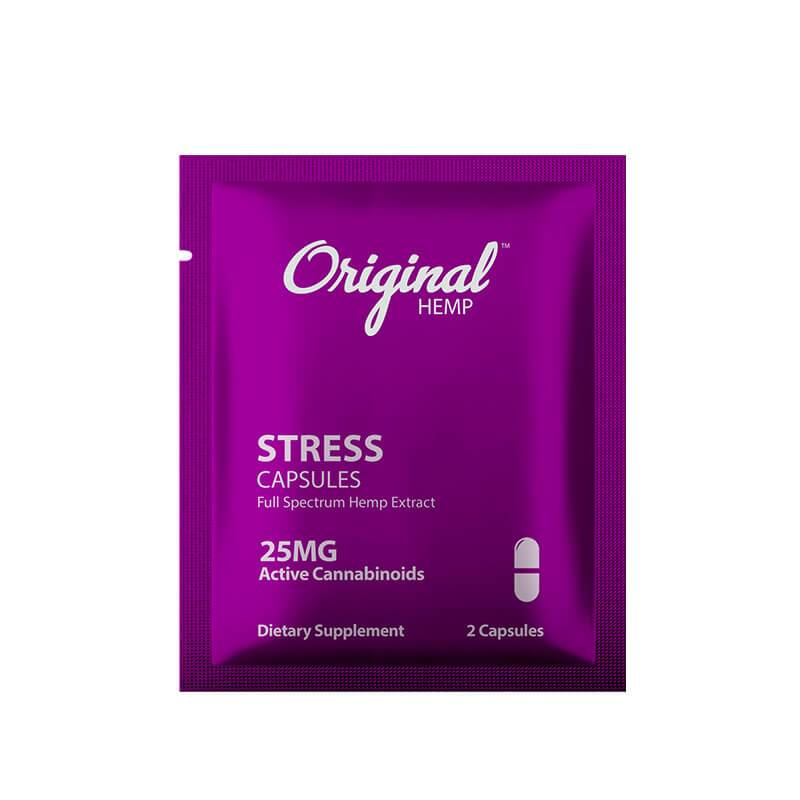 Original Hemp - CBD Capsule - Stress 2 Pack - 25mg