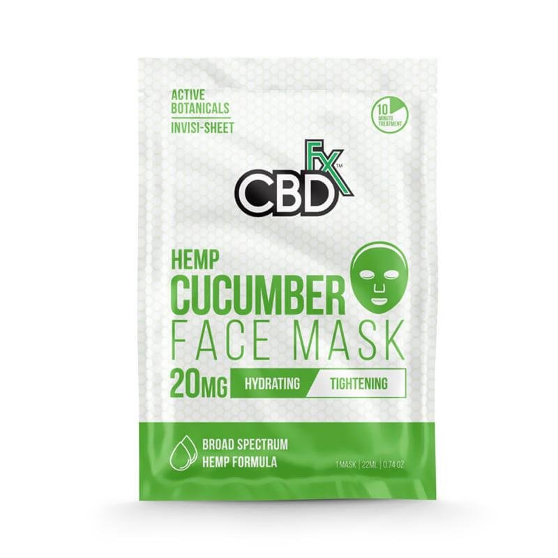 CBDfx - CBD Infused Cucumber Face Mask - 20mg