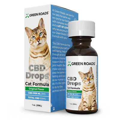 Green Roads - CBD Pet Tincture - CBD Drops Cat Formula - 60mg