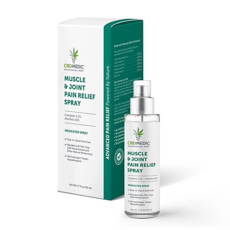 CBD Medic - CBD Topical - Muscle & Joint Pain Relief Spray
