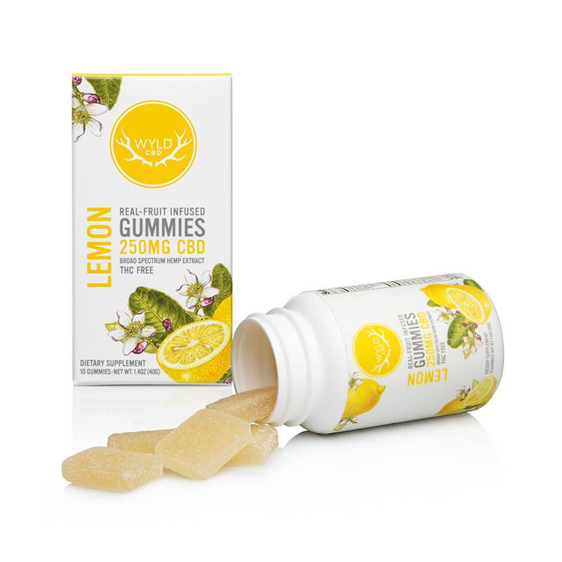 Wyld CBD - CBD Edible - Lemon Gummies - 250mg-500mg