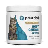 cbdMD - CBD Pet Treat - Chicken and Catnip Feline Soft Chews - 150mg-300mg