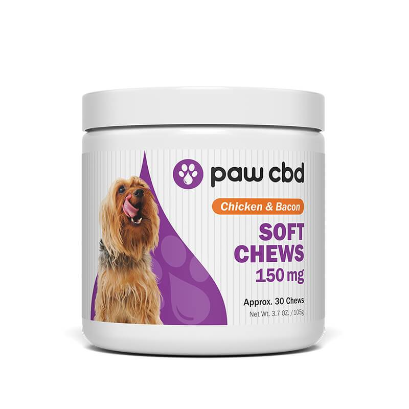 cbdMD - CBD Pet Treats - Chicken & Bacon Canine Soft Chews - 150mg-600mg