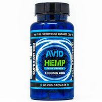 Avid Hemp - CBD Caps - Full Spectrum - 100mg-1000mg