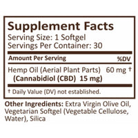 PlusCBD Oil - CBD Softgels - Gold Blend Full Spectrum - 15mg