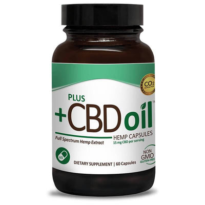 PlusCBD Oil - CBD Capsules - Green Blend Full Spectrum - 15mg