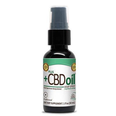 PlusCBD Oil - CBD Tincture Spray - EVOO Unflavored - 100mg-500mg