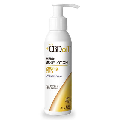 PlusCBD Oil - CBD Topical - Gold Body Lotion Lavender - 200mg