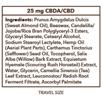 PlusCBD Oil - CBD Topical - Raw Travel Sized Balm Stick - 25mg