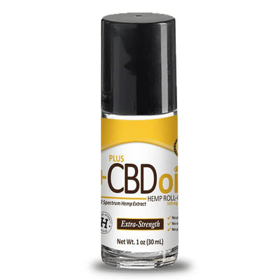 PlusCBD Oil - CBD Topical - Gold Roll On Extra Strength - 500mg