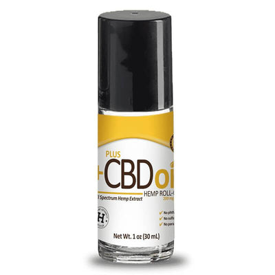 PlusCBD Oil - CBD Topical - Gold Roll On Relief - 200mg