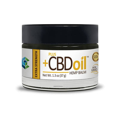 PlusCBD Oil - CBD Topical - Extra Strength Gold Balm - 100mg