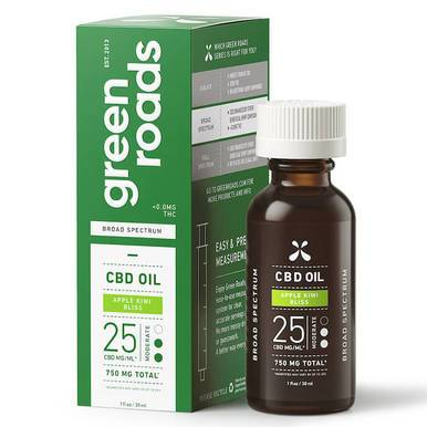 Green Roads - CBD Tincture - Broad Spectrum Apple Kiwi Bliss Moderate - 750mg