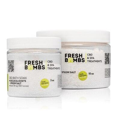 Fresh Bombs - CBD Bath - Muscle and Joint Bath Soak - 30mg-100mg