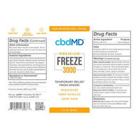 cbdMD - CBD Topical - FREEZE - 3000mg