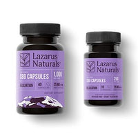 Lazarus Naturals - CBD Capsules - Relaxation Isolate Blend - 25mg