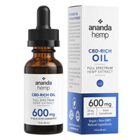 Ananda Hemp - CBD Tincture - Full Spectrum Hemp Extract - 300mg-2000mg