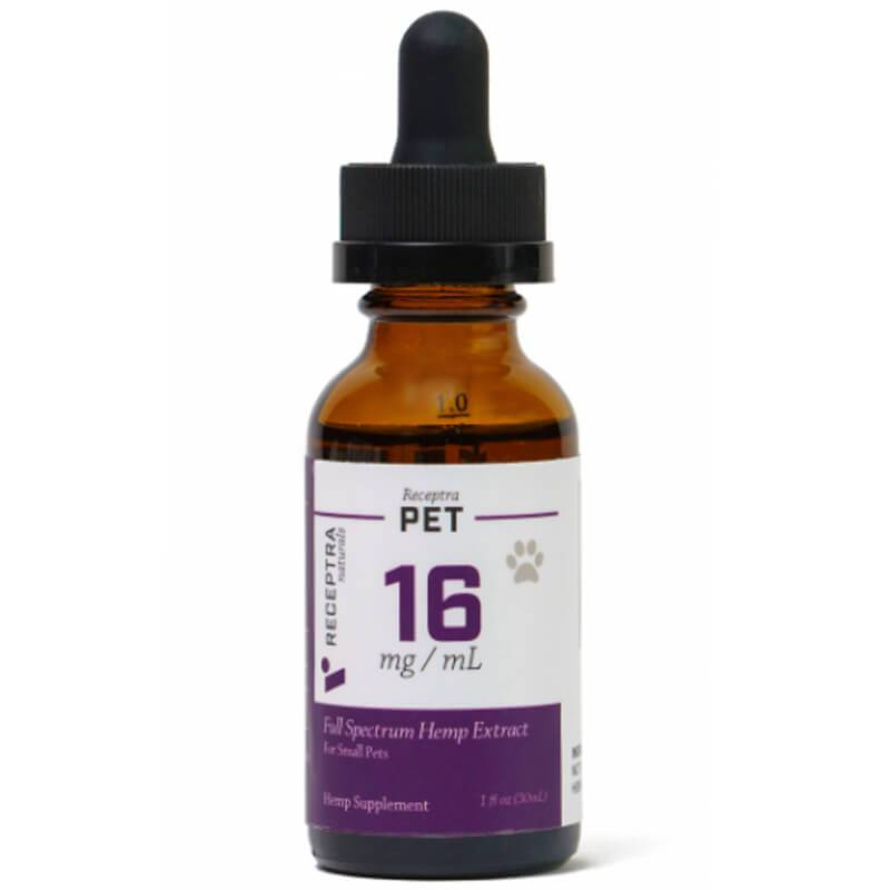 Receptra Naturals - CBD Pet Tincture - Full Spectrum - 16mg-25mg