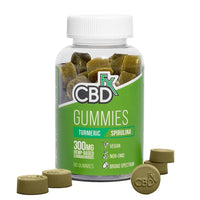 CBDfx - CBD Edible - Broad Spectrum Gummies Turmeric Spirulina - 5mg