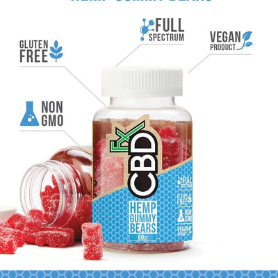 CBDfx - CBD Mixed Berry Gummy Bears 300mg - 60ct Bottle
