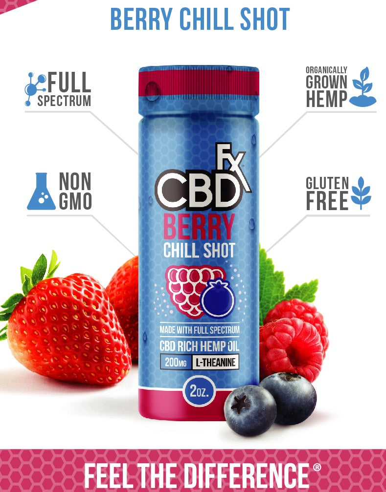 CBDfx - CBD Infused Berry Chill Shot - 20mg