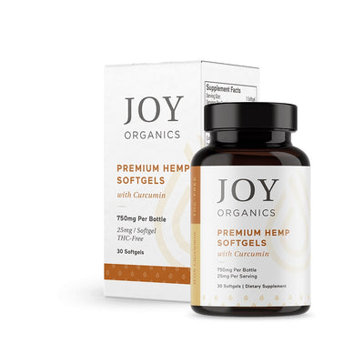 Joy Organics - CBD Softgels - 750mg (25mg/Serving) Curcumin Joint Formula (Qty 30)