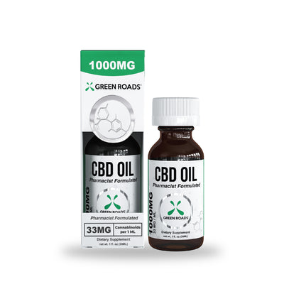 Green Roads - CBD Oil Tincture (Sublingual) 1000mg - 30 ml <0.0mg THC