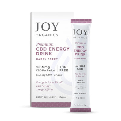 Joy Organics - CBD Energy Drink Mix - 12.5mg CBD THC Free - 5 Pack