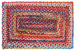 "Multi Chindi Braided Rugs 20"" x 30"" to 8'x10' Rectangle Cotton Rag Material Collection"