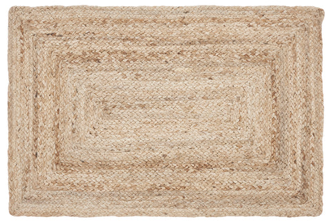 "Sun Braided Rugs 20"" x 30"" to 8'x10' Rectangle 100% Jute Material Collection"