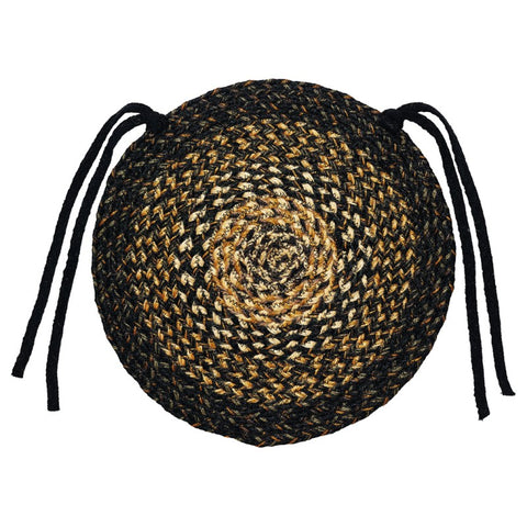 "Black Forest 15"" Braided Chair Pad-Set of 4, BR-251BCC"