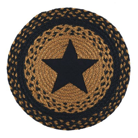 Star Black 15' Round Table Accent