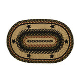 "Tartan Star Braided Rugs 20"" x 30"" to 8'x10' Oval Natural Jute Material
