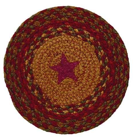 Cinnamon Star 8' Braided Rug Trivets - Set of 4