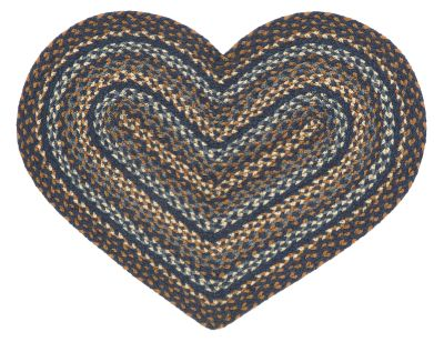 Denim Heart Shaped Rug
