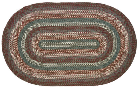 "Serenity Braided Rugs, BR-288 20""x30"" to 8'x10' Oval"