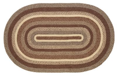 "Gristmill Braided Rugs 20"" x 30"" to 8'x10' Oval Natural Jute Material