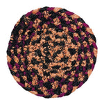 Blackberry 4.5' Braided Rug Coasters - Set of 4