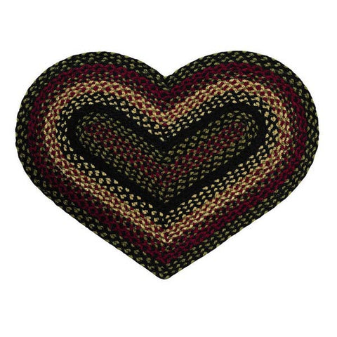 Tartan 20''x30' Heart Shaped Rug