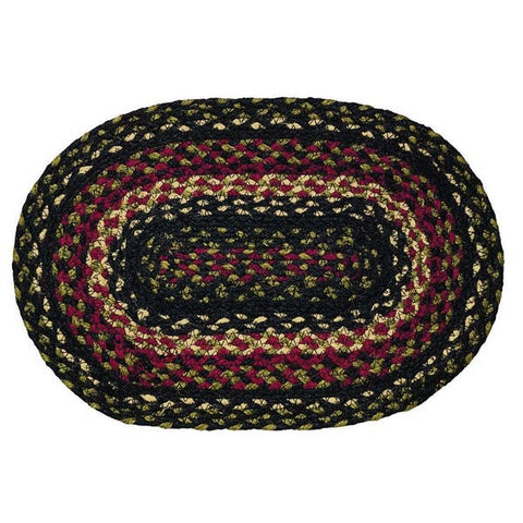 Tartan 10'x15'  Braided Rug Swatches - Set of 4, BR-219 SWT